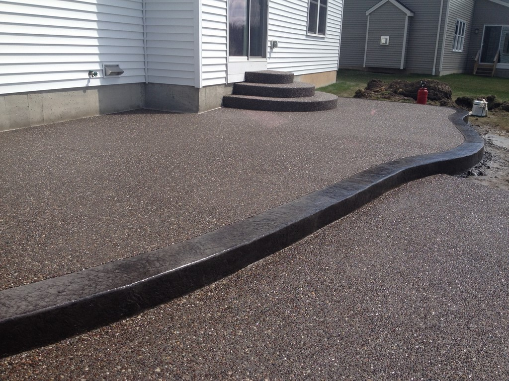 Two Tier Concrete Patios Solid Ground Concrete Inc Buffalo NY - Images of concrete patios