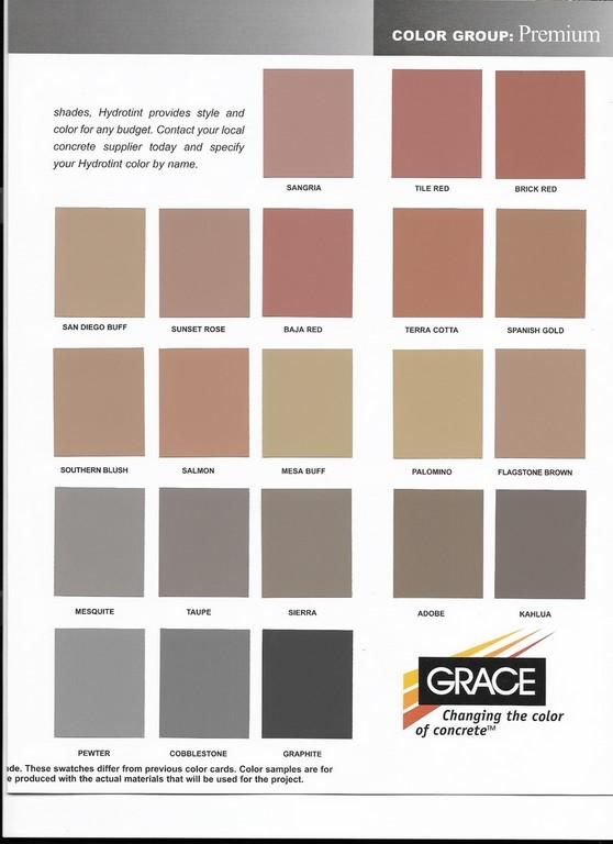 Concrete Color Charts Solid Ground Concrete Inc Buffalo Ny